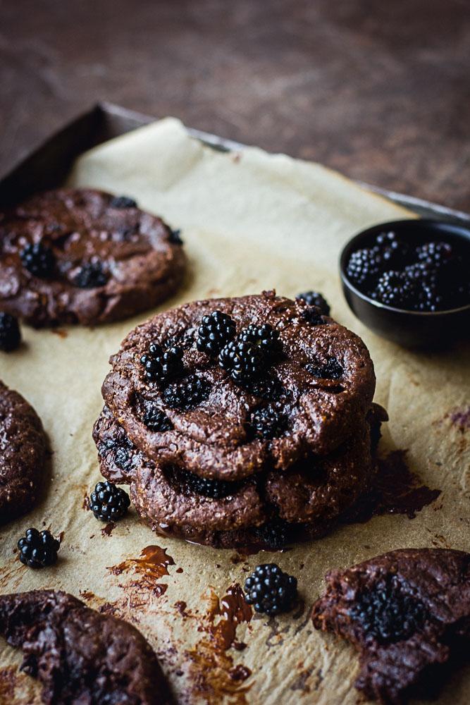 Cookies chocolat et mûres