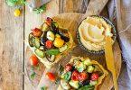 Focaccia garnie aux légumes