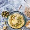 Houmous aux olives vertes