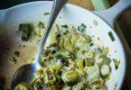 Fondue de poireaux à la moutarde