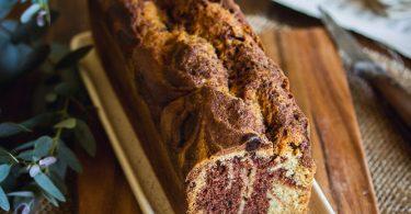 Cake marbré cacao vanille