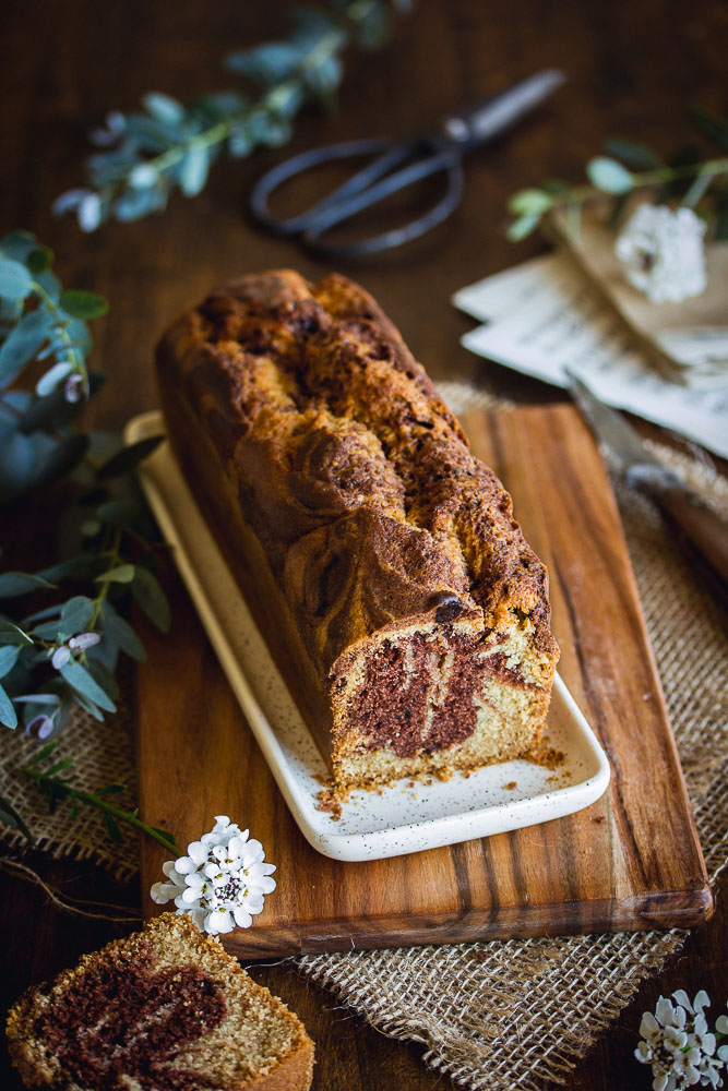 Cake marbré sans oeufs ni lactose
