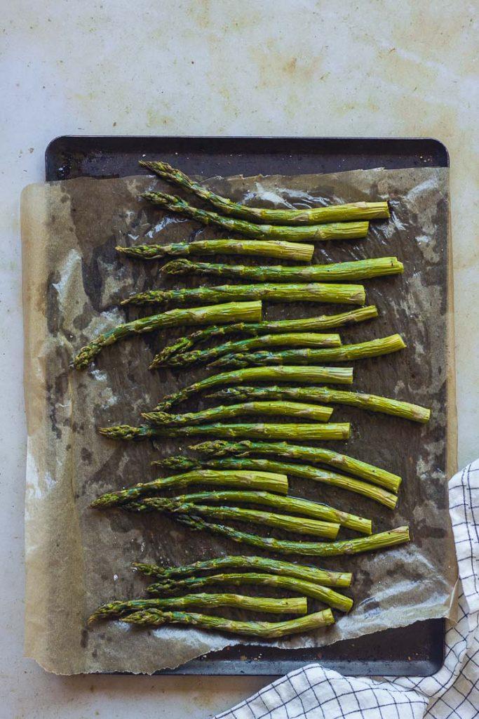 Asperges vertes cuites au four