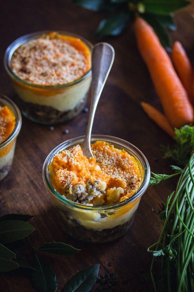 Hachis parmentier vegan à la carotte