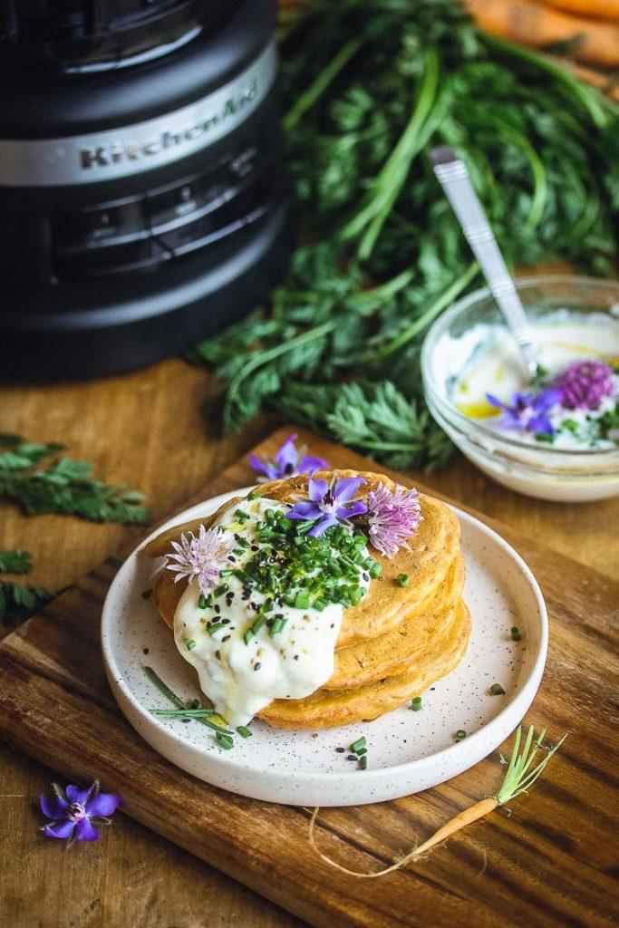 Pancakes à la carotte vegan