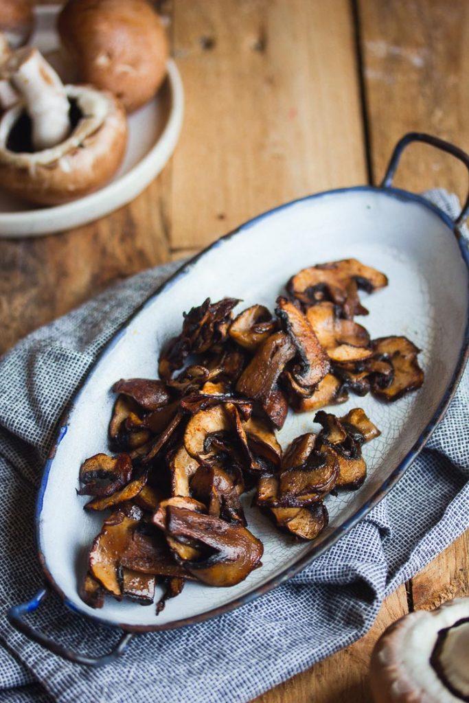 Bacon de champignons de Paris