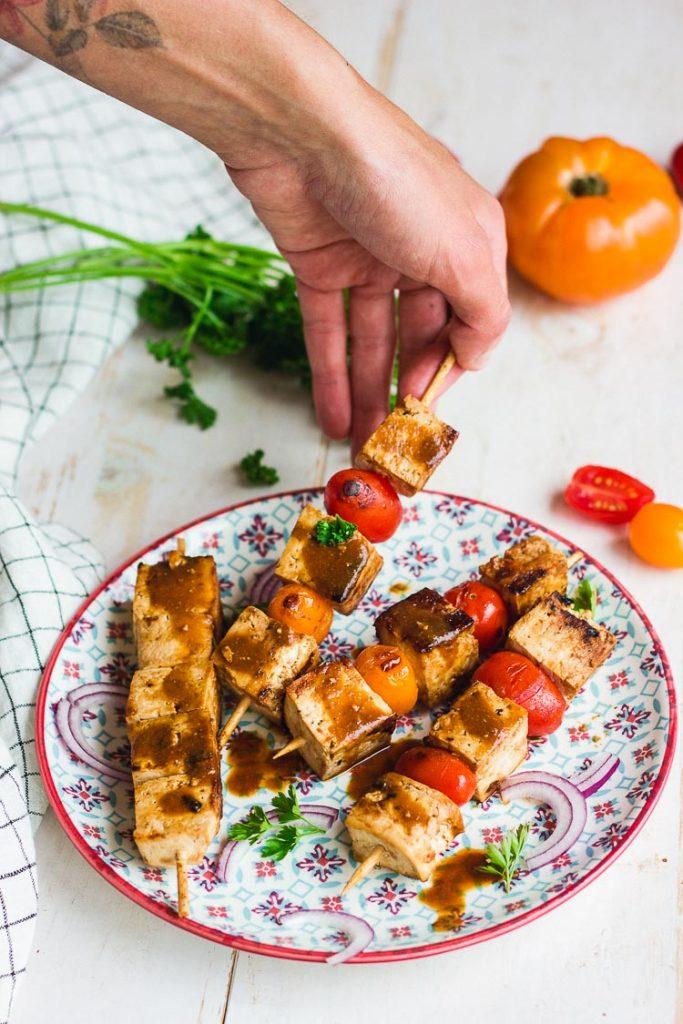 Recette de brochettes de tofu
