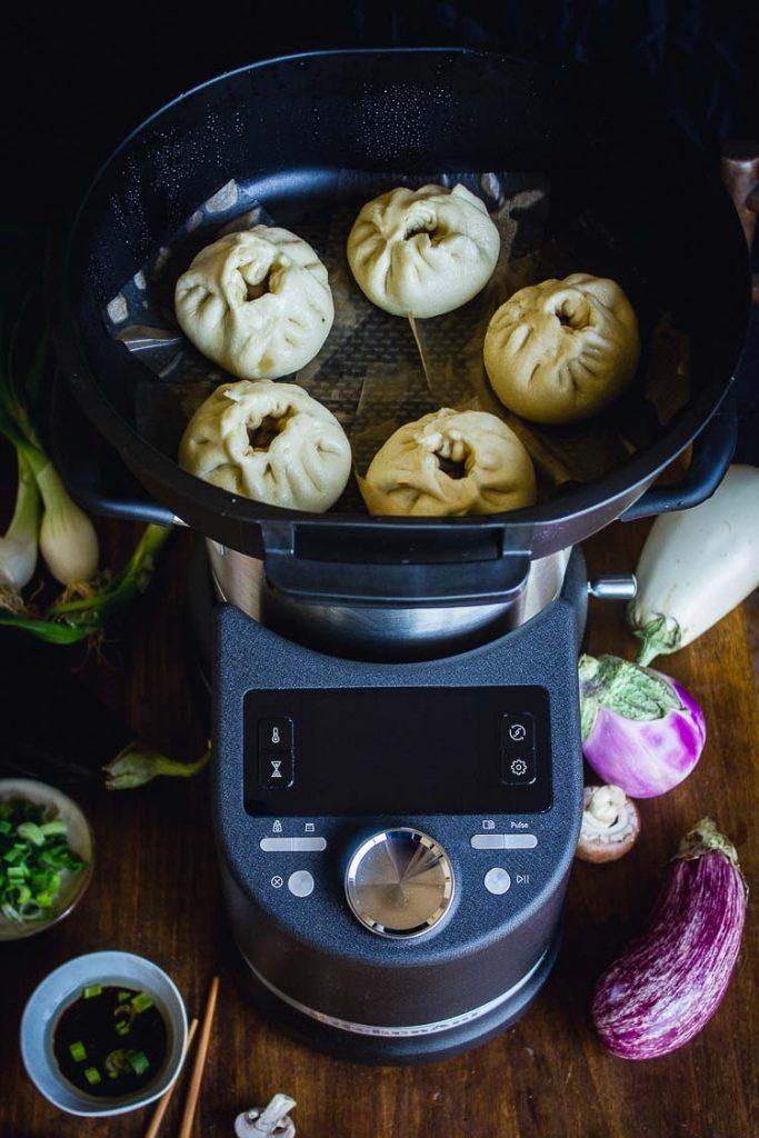 Cuisson à la vapeur au Cook processor KitchenAid
