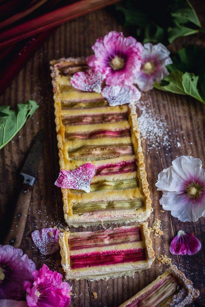Recette de tarte à la rhubarbe vegan