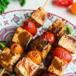 Brochettes de tofu nature