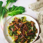 blettes aux lardons de tofu