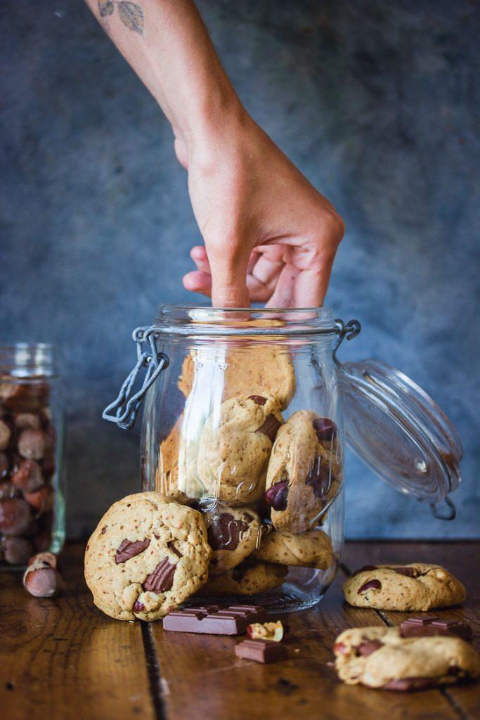 Cookies sans lactose au chocolat