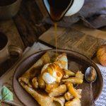 Recette de crêpe pommes et caramel vegan