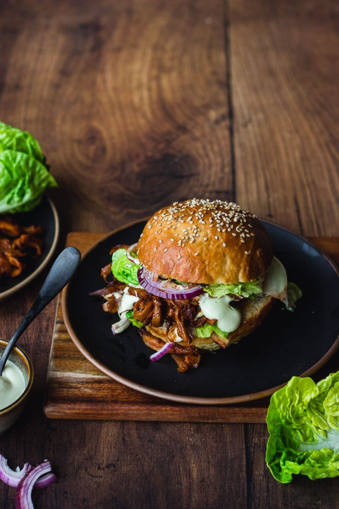 Burger façon pulled pork vegan