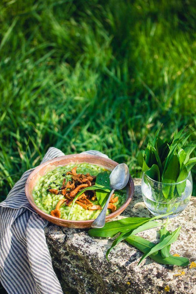 Recette de risotto à l'ail des ours
