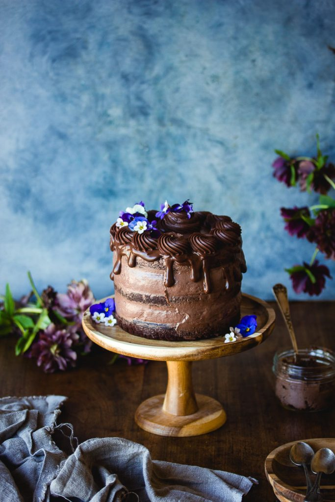 Gros gâteau vegan