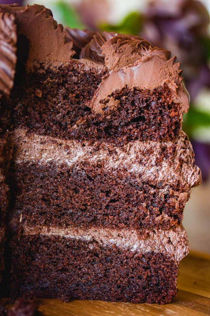 Gâteau à étage au chocolat vegan