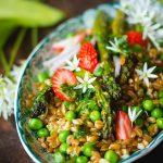 Salade de petit épeautre de printemps