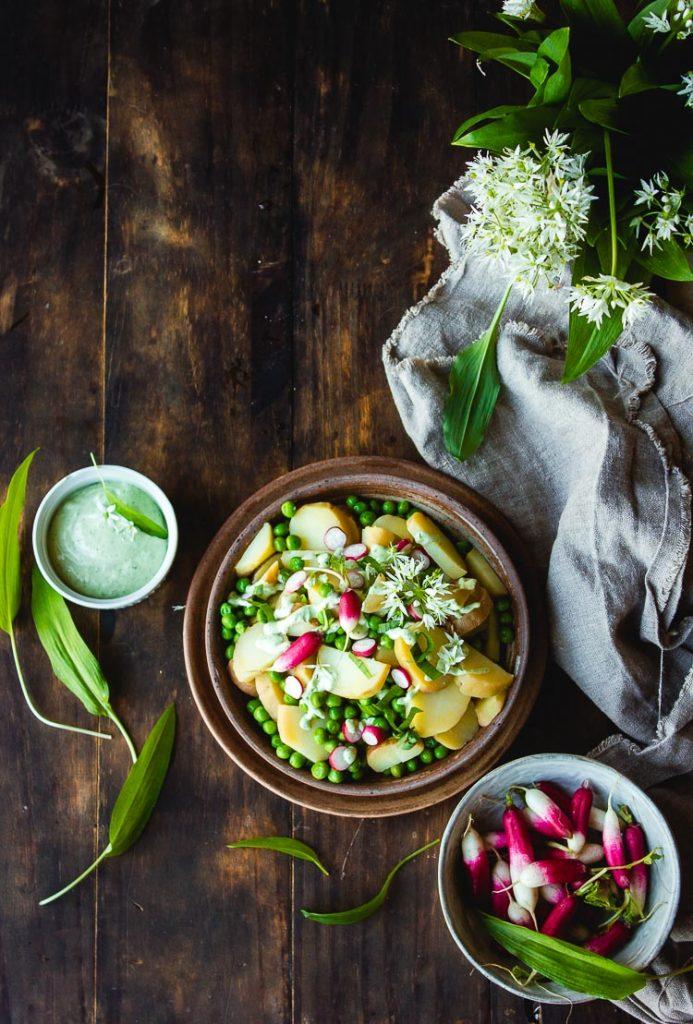 Salade de pomme de terre et de radis