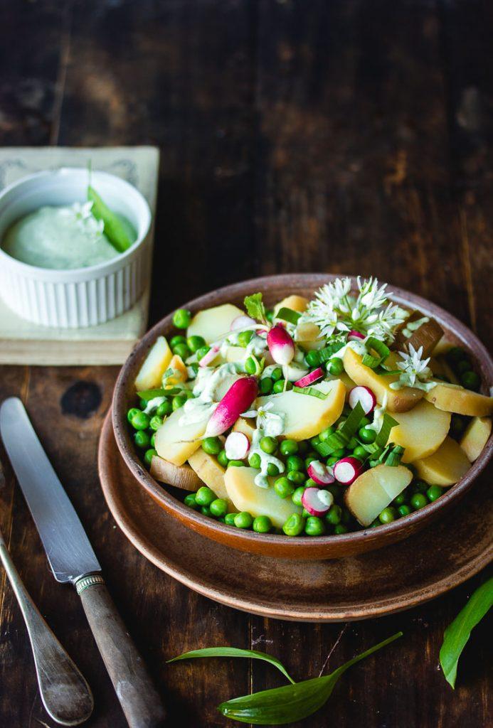 Salade de pomme de terre aux petits pois