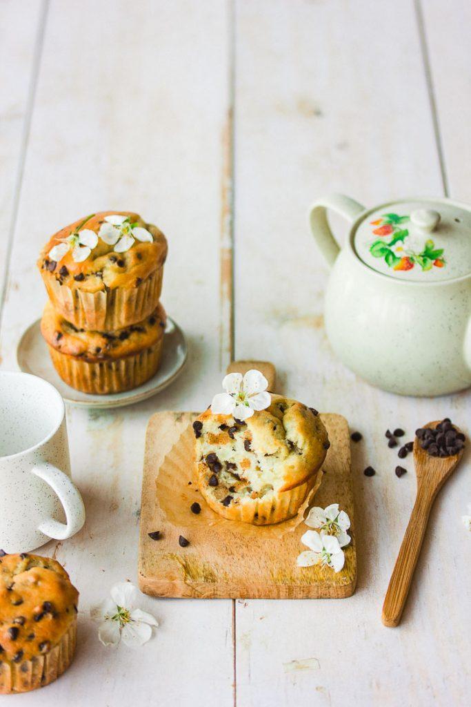 Muffins vegan aux pépites de chocolat