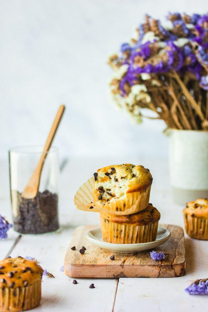 Muffins aux pépites vegan