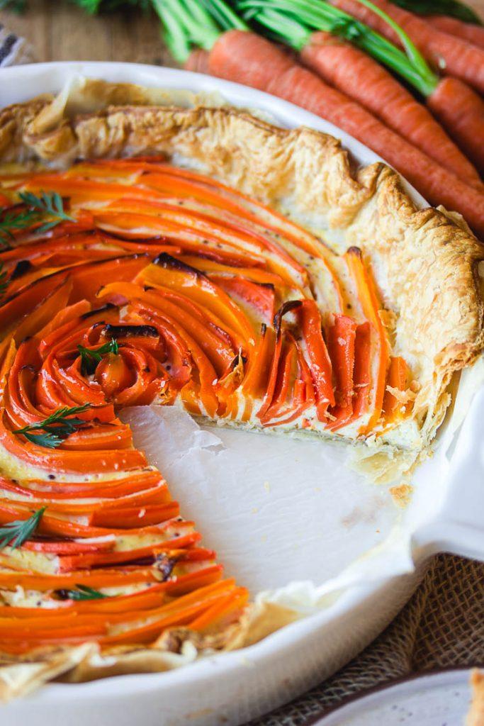 Quiche à la carotte vegan