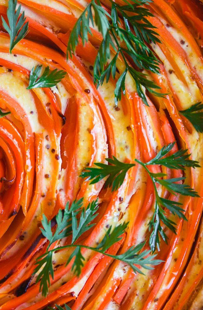 Quiche à la carotte et à la moutarde