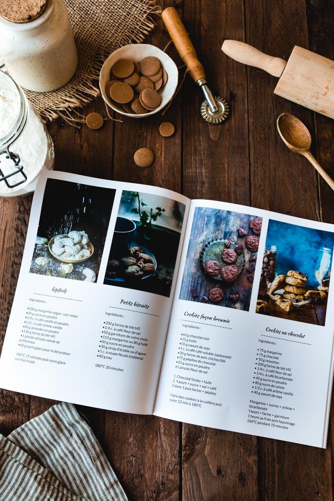 Cahier de recettes imprimé