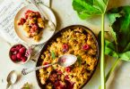 Crumble framboise et rhubarbe sans lactose