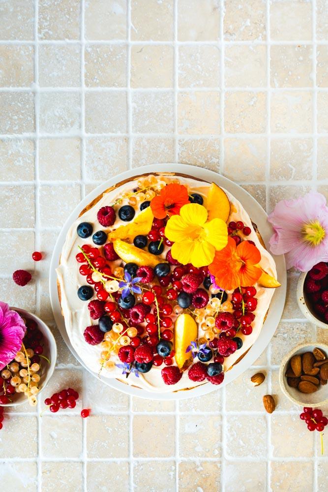 gâteau nature vegan