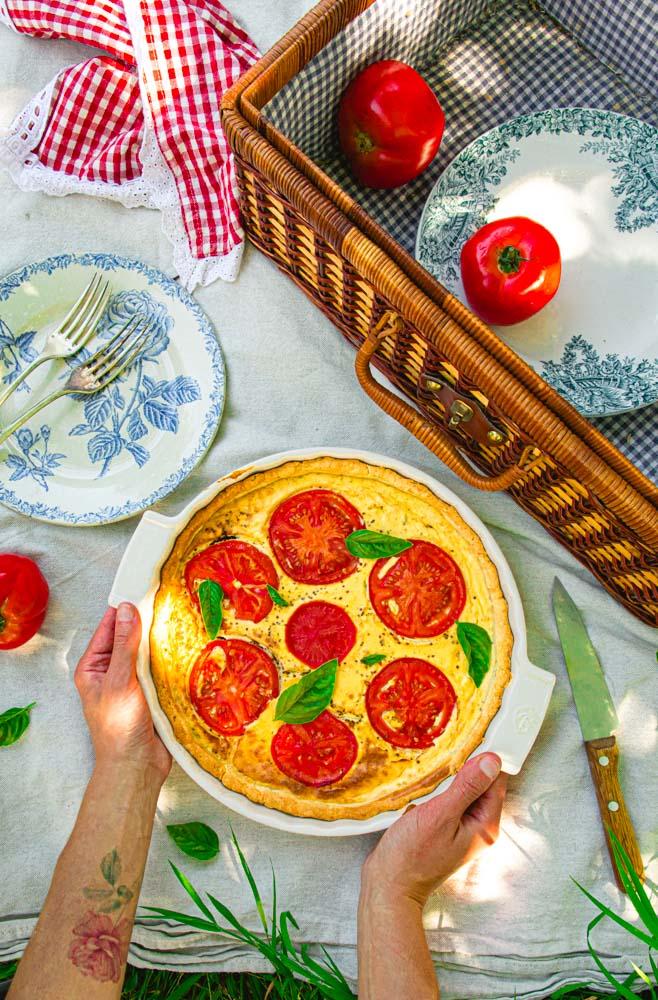 Recette de quiche tomate et moutarde