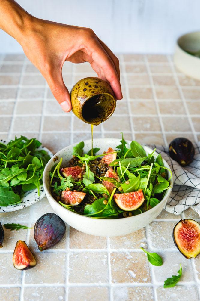 Salade de lentilles au vinaigre balsamique