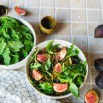 Salade de lentilles aux figues et à la roquette