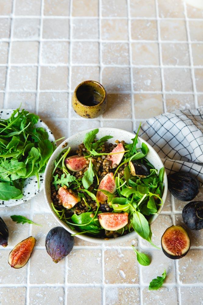 Salade de lentilles aux figues