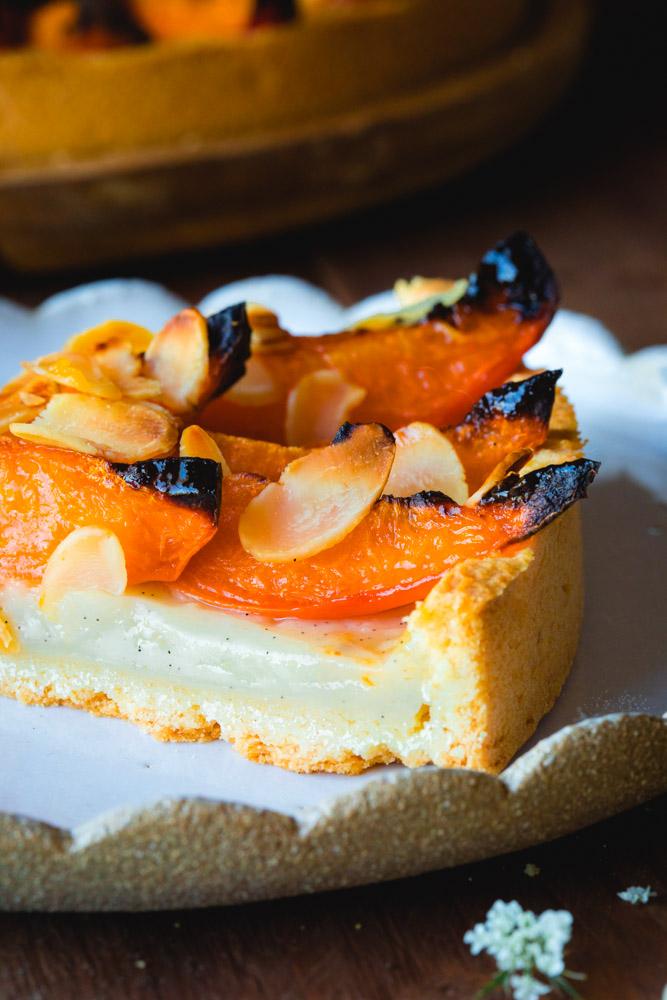 Tarte aux abricots à la crème pâtissière