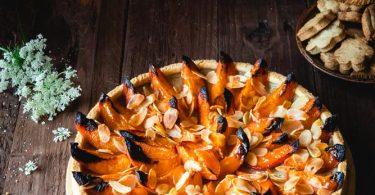 Tarte aux abricots et crème vegan