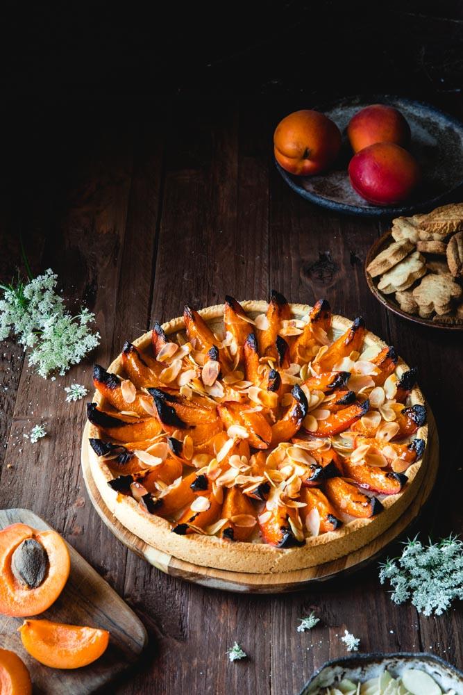 Tarte aux abricots vegan