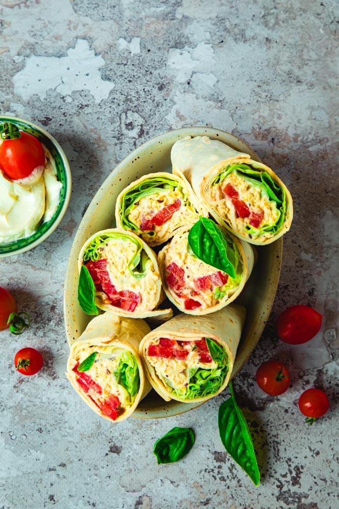 Wrap vegan houmous